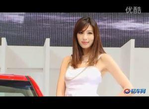 2011上海车展 起亚展台K2车模长发披肩