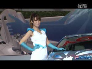 2011上海车展 丰田展台普锐斯环保美女
