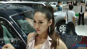 2011广州车展 猎豹黑金刚女模美丽端庄