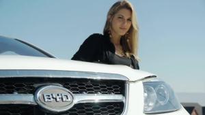 名模露西拉与比亚迪S6 海外市场昂首进