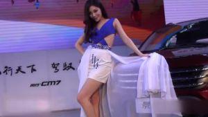 东风风行景逸X5携靓丽车模亮相广州车展