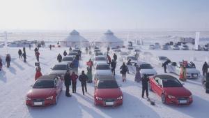 2014奥迪冰雪体验 零下30℃弯路漂移