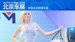 2014北京车展 景逸金发碧眼车模