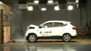 C-NCAP碰撞测试 江淮瑞风S5荣获5星