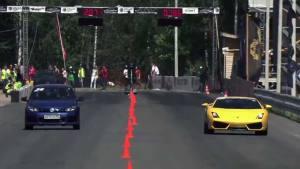 2014直线加速 高尔夫R36完爆众跑车
