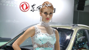 2014广州车展 景逸X5车模美如冠玉