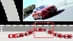新款马自达6阿特兹 车道偏移防止系统