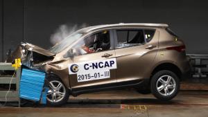 C-NCAP碰撞测试 骏派D60荣获五星