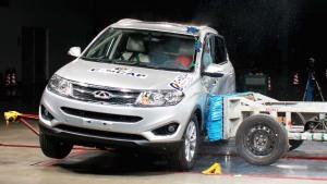 C-NCAP碰撞测试 奇瑞瑞虎5荣获五星