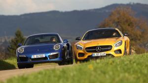 双雄对决 奔驰AMG GT S迎战保时捷911