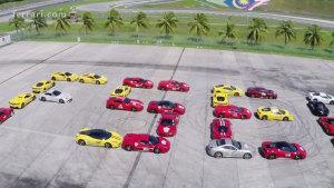 2015东南亚之旅 上百辆法拉利跑车亮相