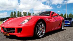 加速赛法拉利599 GTB VS 保时捷911