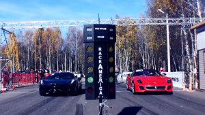 兄弟PK 法拉利599 GTO决战法拉利458