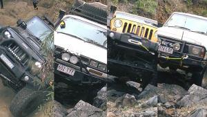 终极越野较量 四款SUV岩石路面比拼