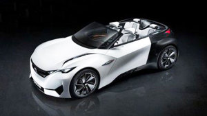 标致Fractal概念车发布 纯电力驱动
