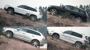 四款SUV越野争霸赛 Jeep自由光性能出众