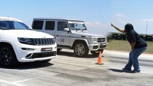 Jeep大切诺基 直线加速完胜奔驰G63 AMG