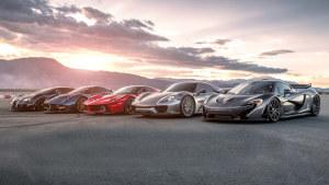 五款顶级超跑集结 动力充沛咆哮赛道