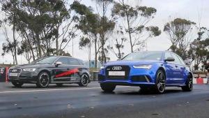 直线加速 奥迪S3对同门奥迪RS6 Avant