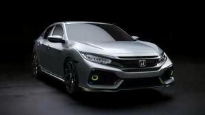 新一代本田思域两厢版 前脸采用X型设计