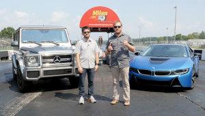 超跑杠上SUV 宝马i8单挑奔驰G63 AMG