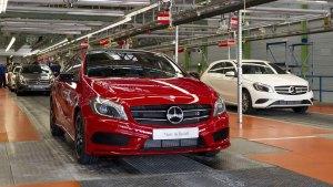 奔驰A级紧凑轿车 生产组装车间探秘