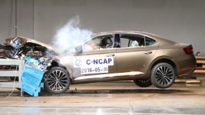 C-NCAP碰撞测试 斯柯达全新速派获5星
