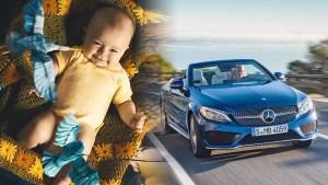 全新奔驰C级敞篷跑车 实现童年汽车梦