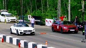 奔驰AMG GT S直线加速奔驰CLS63 AMG
