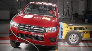 全新丰田Hilux皮卡 E-NCAP碰撞测试