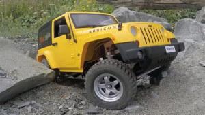 Jeep牧马人遥控车1:10 沙滩岩石堆越野