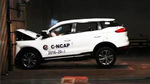 C-NCAP碰撞测试 吉利博越荣获5星