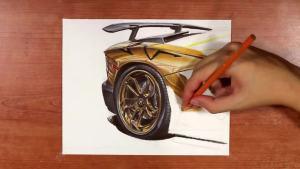兰博基尼Aventador LP750-4 细节手绘