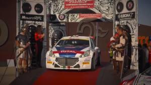 意大利拉力赛 标致208 T16赛车勇闯战场