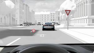 2016款宝马7系 配备全彩平视显示系统