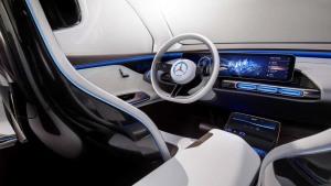 奔驰EQ概念车内饰 采用24英寸TFT显示屏