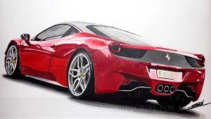法拉利458 Italia快速手绘 造型亮眼
