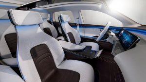 奔驰EQ概念车 采用四个独立座椅设计