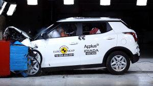 双龙蒂维拉小型SUV E-NCAP碰撞测试
