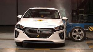 现代Ioniq混动轿车 E-NCAP碰撞测试