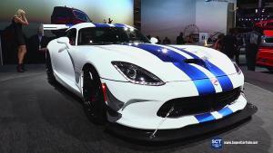2017款道奇蝰蛇GTS-R展示 蓝白经典涂装