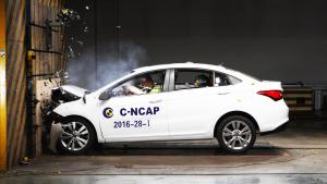 C-NCAP碰撞测试 2016款艾瑞泽5荣获5星