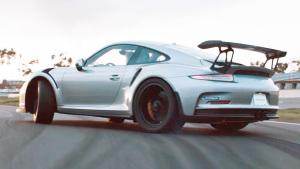 保时捷911 GT3 RS配帅气尾翼 漂移过弯