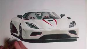 大神手绘科尼赛克Agera R 千万级豪车