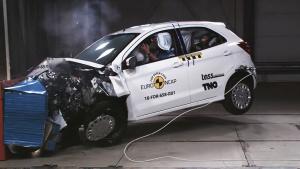 全新福特Ka+小型车 E-NCAP碰撞测试