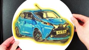 全新丰田Aygo煎饼画 绘制整车基本设计