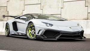 兰博基尼Aventador 搭配个性异形轮毂
