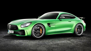 性能猛兽奔驰AMG GT-R 独特绿色涂装