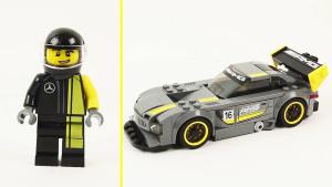 奔驰AMG GT3高性能赛车 积木神速组装