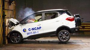 C-NCAP碰撞测试 比亚迪元手动尊荣获5星